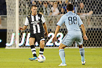 Newcastle United midfielder Dan Gosling faces Milos Stojcev Sporting KC... Sporting Kansas City and Newcastle United played to a 0-0 tie in an international friendly at LIVESTRONG Sporting Park, Kansas City, Kansas.