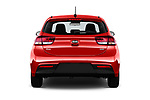 Straight rear view of 2017 KIA Rio Fusion 5 Door Hatchback Rear View  stock images