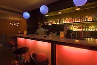 Spanien, Barcelona, Bar des Hotel Roma Reial an der Placa Reial