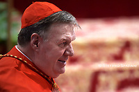 Cardinal Joseph William Tobin, during an Ordinary Public Consistory for the creation of new cardinals on October 5, 2019 in the Vatican. Pope Francis appoints 13 new cardinals at the 2019 Ordinary Public Consistory, choosing prelates whose lifelong careers reflect their commitment to serve the marginalized and local church communities, hailing from 11 different nations and representing multiple religious orders.