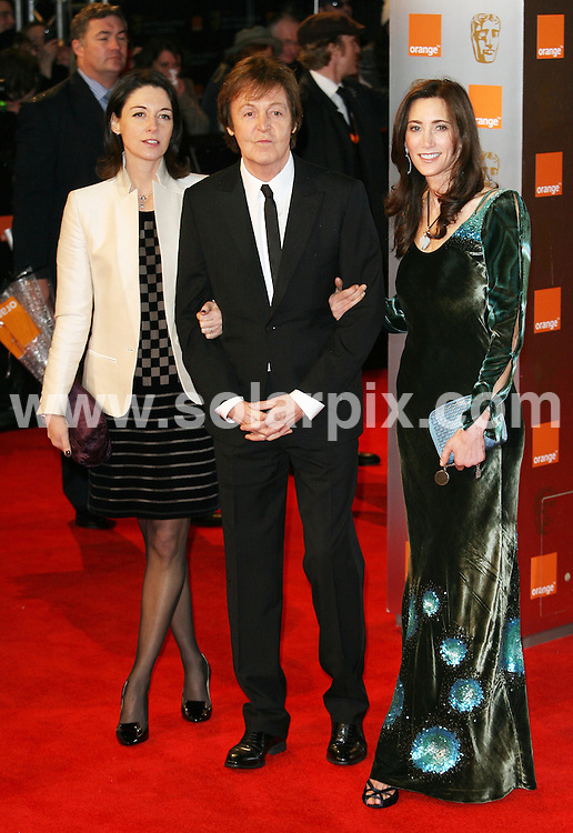 **ALL ROUND PICTURES FROM SOLARPIX.COM**                                             **WORLDWIDE SYNDICATION RIGHTS**                                                                                  Arrivals to the Orange British Academy Film Awards held at The Royal Opera House on February 13, 2011 in London                                                                          .This pic:    Mary, Paul and Heather McCartney                                                                                          JOB REF:   12788     LNJ       DATE:   13.02.11                                                         **MUST CREDIT SOLARPIX.COM OR DOUBLE FEE WILL BE CHARGED**                                                                      **MUST AGREE FEE BEFORE ONLINE USAGE**                               **CALL US ON: +34 952 811 768 or LOW RATE FROM UK 0844 617 7637**