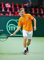 Switserland, Genève, September 20, 2015, Tennis,   Davis Cup, Switserland-Netherlands, Tallon Griekspoor (NED)<br /> Photo: Tennisimages/Henk Koster