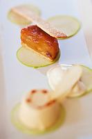 Europe/France/Bretagne/56/Morbihan/Billiers:  Pomme en déclinaison, recette de  Patrice Caillault du Domaine de Rochevilaine à la pointe de Pen-Lan