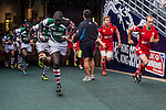 Kenya vs Wales during the Cathay Pacific / HSBC Hong Kong Sevens at the Hong Kong Stadium on 29 March 2014 in Hong Kong, China. Photo by Juan Flor / Power Sport Images