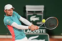 27th September 2020, Roland Garros, Paris, France; French Open tennis, Roland Garros 2020; David Goffin (Bel)