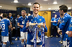 Livingston v St Johnstone …28.02.21   Hampden   BetFred Cup Final<br /> Jamie McCart pictured in the dressing room after winning the BETFRED Cup<br /> Picture by Graeme Hart.<br /> Copyright Perthshire Picture Agency<br /> Tel: 01738 623350  Mobile: 07990 594431