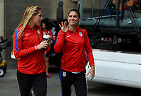 Cincinnati, OH - Tuesday September 19, 2017: Allie Long, Alex Morgan during an International friendly match between the women's National teams of the United States (USA) and New Zealand (NZL) at Nippert Stadium.