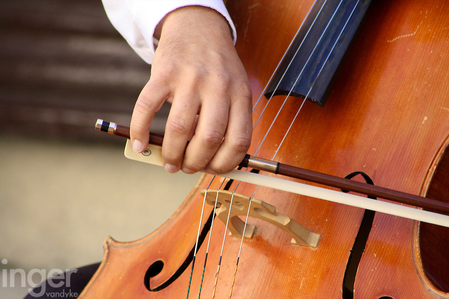 Cellist in Toledo, Spain