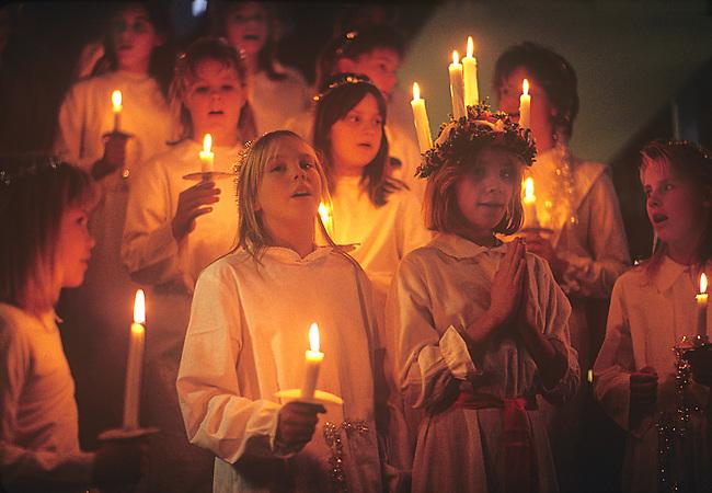 St. Lucia Celebration, Stockholm, Sweden