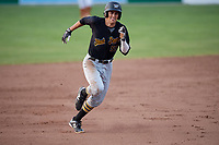 West Virginia Black Bears shortstop Connor Kaiser (59) runs the bases during a game against the Batavia Muckdogs on July 2, 2018 at Dwyer Stadium in Batavia, New York.  West Virginia defeated Batavia 3-1.  (Mike Janes/Four Seam Images)