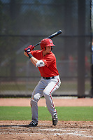 Washington Nationals Tyler Beckwith (7) at bat during a minor league Spring Training game against the Houston Astros on March 28, 2017 at the FITTEAM Ballpark of the Palm Beaches in West Palm Beach, Florida.  (Mike Janes/Four Seam Images)