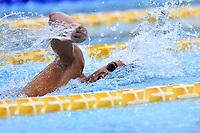 """Gregorio Paltrinieri, with swim cap from the Pope """"Papa Francesco"""",<br /> 1500m Freestyle Men.<br /> Roma 01-07-2018 Stadio del Nuoto Foro Italico<br /> FIN 55 Trofeo Settecolli 2018 Internazionali d'Italia<br /> Photo Antonietta Baldassarre/Deepbluemedia/Insidefoto"""