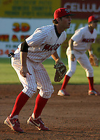 June 30, 2003:  third baseman Marc Tugwell of the Batavia Muckdogs during a game at Dwyer Stadium in Batavia, New York.  Photo by:  Mike Janes/Four Seam Images