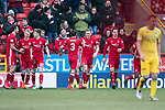 Aberdeen v St Johnstone…31.03.18…  Pittodrie    SPFL<br />Greg Stewart celebrates scoring Aberdeen's third goal<br />Picture by Graeme Hart. <br />Copyright Perthshire Picture Agency<br />Tel: 01738 623350  Mobile: 07990 594431