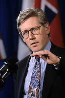 1992 file photo <br /> Bob Rae seen in a May 1992 File Photo taken during a conference  on Canada s Constitution (when he was Ontario Premier).<br /> <br /> Rae joined the Liberal Party Leadership race to replace Paul Martin <br /> Photo : (c) 1992 Pierre Roussel