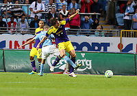 Thursday 08 August 2013<br /> Pictured L-R: Erdal Rakip of Malmo challenging Michu of Swansea <br /> Re: Malmo FF v Swansea City FC, UEFA Europa League 3rd Qualifying Round, Second Leg, at the Swedbank Stadium, Malmo, Sweden.