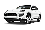 Stock pictures of low aggressive front three quarter view of 2017 Porsche Cayenne - 5 Door SUV Low Aggressive