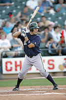 New Orleans Zephyrs Catcher Mike Nickeas on Sunday June 1st at Dell Diamond in Round Rock, Texas. Photo by Andrew Woolley / Four Seam Images.