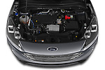 Car Stock 2020 Ford Kuga Titanium 5 Door SUV Engine  high angle detail view