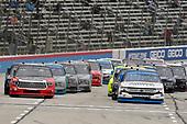 #19: Derek Kraus, McAnally Hilgemann Racing, Toyota Tundra SHOCKWAVE/ENEOS and #2: Sheldon Creed, GMS Racing, Chevrolet Silverado Chevy Truck Month