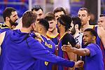 Liga ACB-ENDESA 2020/2021. Game: 26.<br /> FC Barcelona vs Casademont Zaragoza: 107-88.<br /> Nikola Mirotic, Pierre Oriola, Adam Hanga, Sergi Martinez, Brandon Davies, Alex Abrines, Victor Claver, Pau Gasol & Cory Higgins.