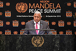 Opening Plenary Meeting of the Nelson Mandela Peace Summit<br /> <br /> <br /> His Excellency Josaia Voreqe BAINIMARAMAPrime Minister and Minister for Itaukei Affairs,Sugar Industry and Foreign Affairs of the Republic of Fij