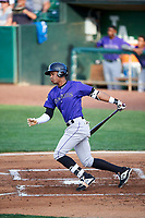 Walking Cabrera (6) of the Grand Junction Rockies bats against the Ogden Raptors at Lindquist Field on June 14, 2019 in Ogden, Utah. The Raptors defeated the Rockies 12-0. (Stephen Smith/Four Seam Images)