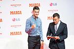 Cristiano Ronaldo (l) during the ceremony of 'Marca Leyenda' Award in Madrid. July 29, 2019. (ALTERPHOTOS/Francis González)