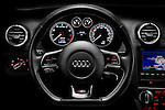 Steering wheel view of a 2009 Audi S3