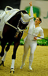 8 October 2010: Sarah Kay (GER) perorms during the Vaulting Techincals in the World Equestrian Games in Lexington, Kentucky