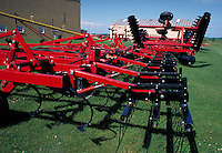 farm equipment on display outdoors. Iowa.