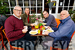 Members of the Irish Coast Guard enjoying Al Fresco dining in Kilcoolys Bar and Restaurant Ballybunion on Saturday. L to r: Victor Shine, Kevin McMahon, Jonathan Mahoney and TJ McCarron.