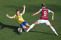 Felicity Gibbons of Brighton and Martha Thomas of West Ham during West Ham United Women vs Brighton & Hove Albion Women, Barclays FA Women's Super League Football at the Chigwell Construction Stadium on 15th November 2020