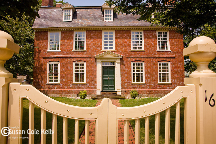 Derby House, in the Salem National Maritime Historical Park, illustrates the wealth of the China Trade era in Salem, MA, USA