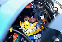 May 22, 2011; Topeka, KS, USA: NHRA pro stock driver Greg Stanfield during the Summer Nationals at Heartland Park Topeka. Mandatory Credit: Mark J. Rebilas-