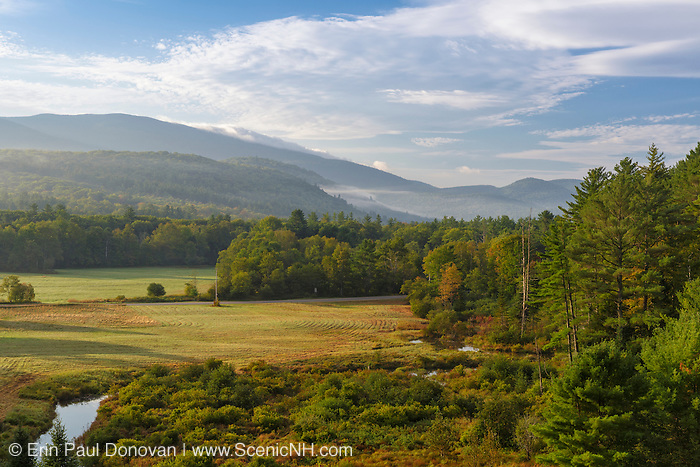 View from Hildreth Dam in Warren, New Hampshire USA during the summer months.