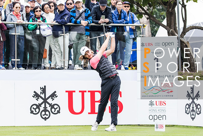 Tommy Fleetwood of England tees off during the day three of UBS Hong Kong Open 2017 at the Hong Kong Golf Club on 25 November 2017, in Hong Kong, Hong Kong. Photo by Yu Chun Christopher Wong / Power Sport Images