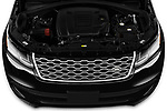 Car Stock 2020 Land Rover Range-Rover-Velar S 5 Door SUV Engine  high angle detail view