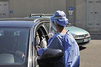 - Milano, prelievo del tampone rinofaringeo per la diagnosi dell'infezione da virud Covid 19 presso l'ospedale San Paolo<br /> <br /> - Milan, nasopharyngeal swab collection for the diagnosis of  Covid-19 virus infection at the San Paolo hospital