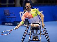 Rotterdam, Netherlands, December 13, 2016, Topsportcentrum, Lotto NK Tennis,  Wheelchair, Maikel Scheffers (NED)<br /> Photo: Tennisimages/Henk Koster