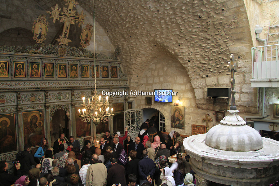 Israel, Jerusalem, Maundy Thursday at the Greek Orthodox Monastery of Abraham by the Church of the Holy Sepulchre