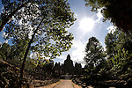 The Bayon temple in the ancient city of Angkor, in northwestern Cambodia, near Siem Reap.