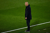 April 27th 2021; Alfredo Di Stefano Stadium, Madrid, Spain;  UEFA Champions League. Real Madrid coach Zinedine Zidane during the Champions League match, semifinals between Real Madrid and Chelsea FC played at Alfredo Di Stefano Stadium