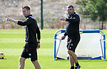 St Johnstone Training....   McDiarmid Park   10.08.21<br />Manager Callum Davidson pictured during training this morning with coach Steven MacLean ahead of Thursday's Europa League Qualfier against Galatasaray.<br />Picture by Graeme Hart.<br />Copyright Perthshire Picture Agency<br />Tel: 01738 623350  Mobile: 07990 594431
