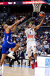 Real Madrid's Dontaye Draper and Anadolu Efes's Jayson Granger during Turkish Airlines Euroleague match between Real Madrid and Anadolu Efes at Wizink Center in Madrid, April 07, 2017. Spain.<br /> (ALTERPHOTOS/BorjaB.Hojas)