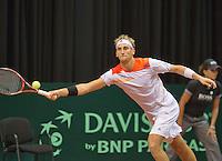 15-sept.-2013,Netherlands, Groningen,  Martini Plaza, Tennis, DavisCup Netherlands-Austria, Thiemo de Bakker (NED)  <br /> Photo: Henk Koster