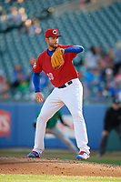 Buffalo Bisons starting pitcher T.J. Zeuch (28) during an International League game against the Norfolk Tides on June 22, 2019 at Sahlen Field in Buffalo, New York.  Buffalo defeated Norfolk 3-0.  (Mike Janes/Four Seam Images)