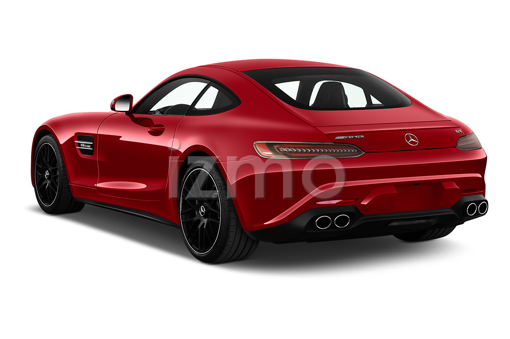 Car pictures of rear three quarter view of 2020 Mercedes Benz AMG-GT - 3 Door Coupe Angular Rear