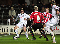 Pictured: Angle Rangle of Swansea City in action<br />