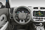 Car pictures of steering wheel view of a2015 KIA Soul EV Base 5 Door Wagon Steering Wheel